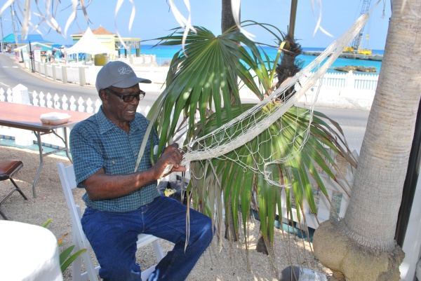 Caymanian Knitting Fish Net Hammocks